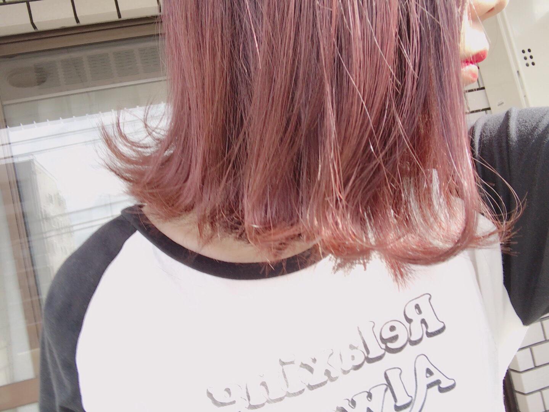【ピンクアッシュが可愛い件】